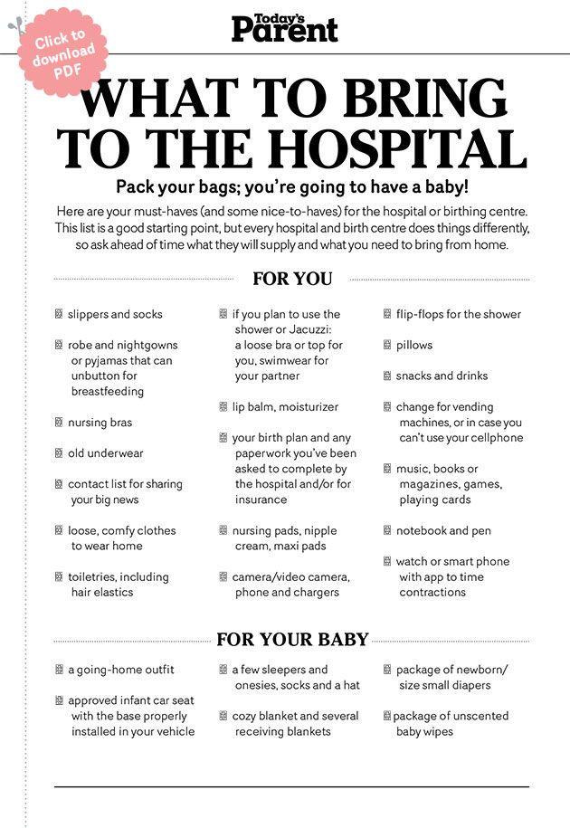 Hospital bag Hospital bag, Bag and Parents - newborn checklist