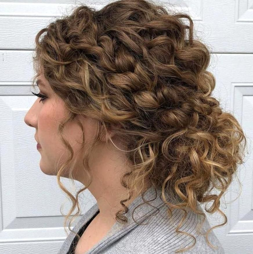 Low Curly Bun With Loose Curls Naturalhairstyles In 2020 Curly Hair Styles Naturally Curly Hair Styles Hair Styles