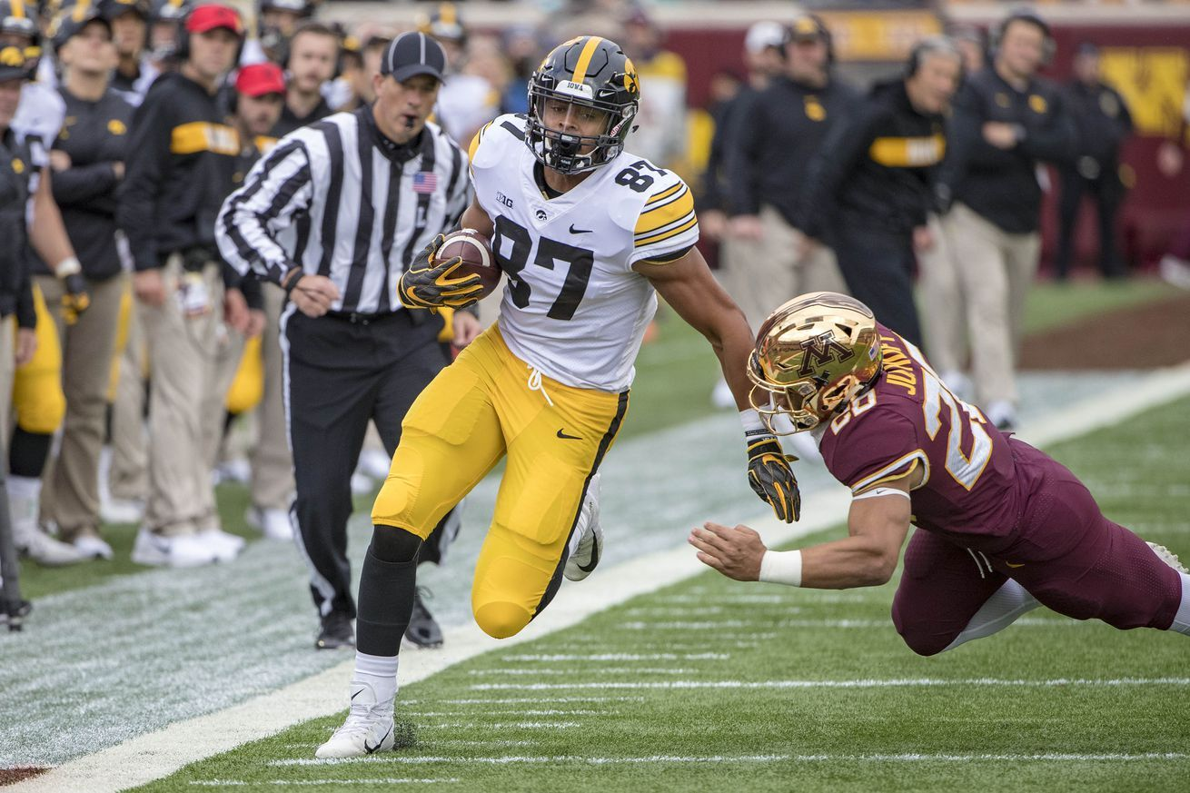 Noah Fant The Best Te Option For The Redskins In The 2019 Draft Nfl Coaches Iowa Hawkeye Football Hawkeye Football