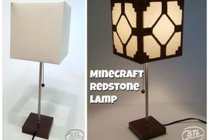 Real Minecraft Redstone Lamp For Your Kid S Room With Free Printable Stlmotherhood Minecraft Redstone Lamp Minecraft Redstone Minecraft Bedroom
