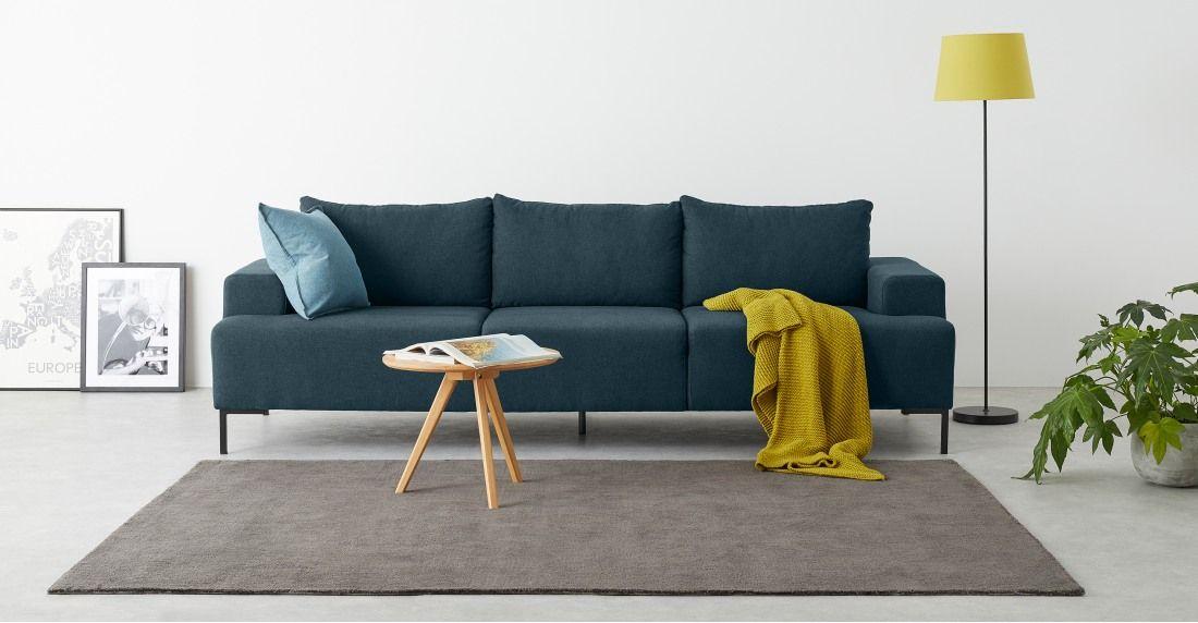 Essentials Oskar 3 Zitsbank Met Hoek Links Oceaanblauw Sofa 2 Seater Sofa 3 Seater Sofa