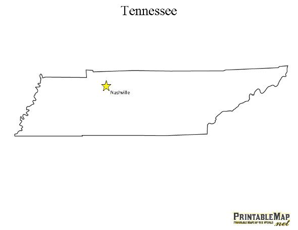 Printable State Capital Map Of Tennessee 4th Grade Social Studies