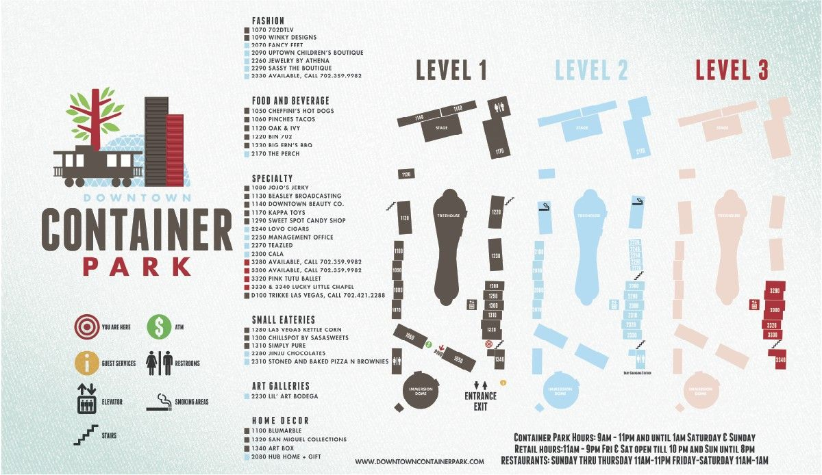 Fashion Show Directory Map Fashion Show - Fashion Show Mall 8