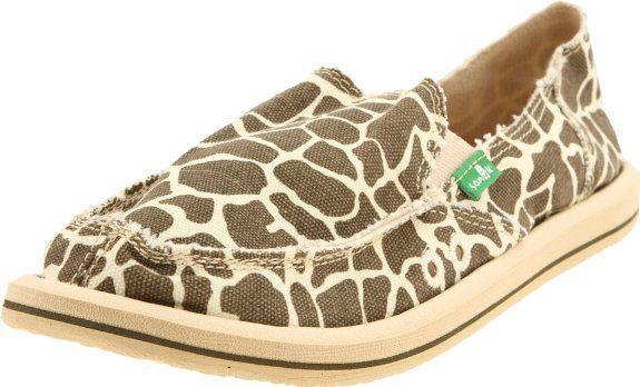 Sanuk Women's I'm Game Sidewalk Surfer Slip-On, giraffe
