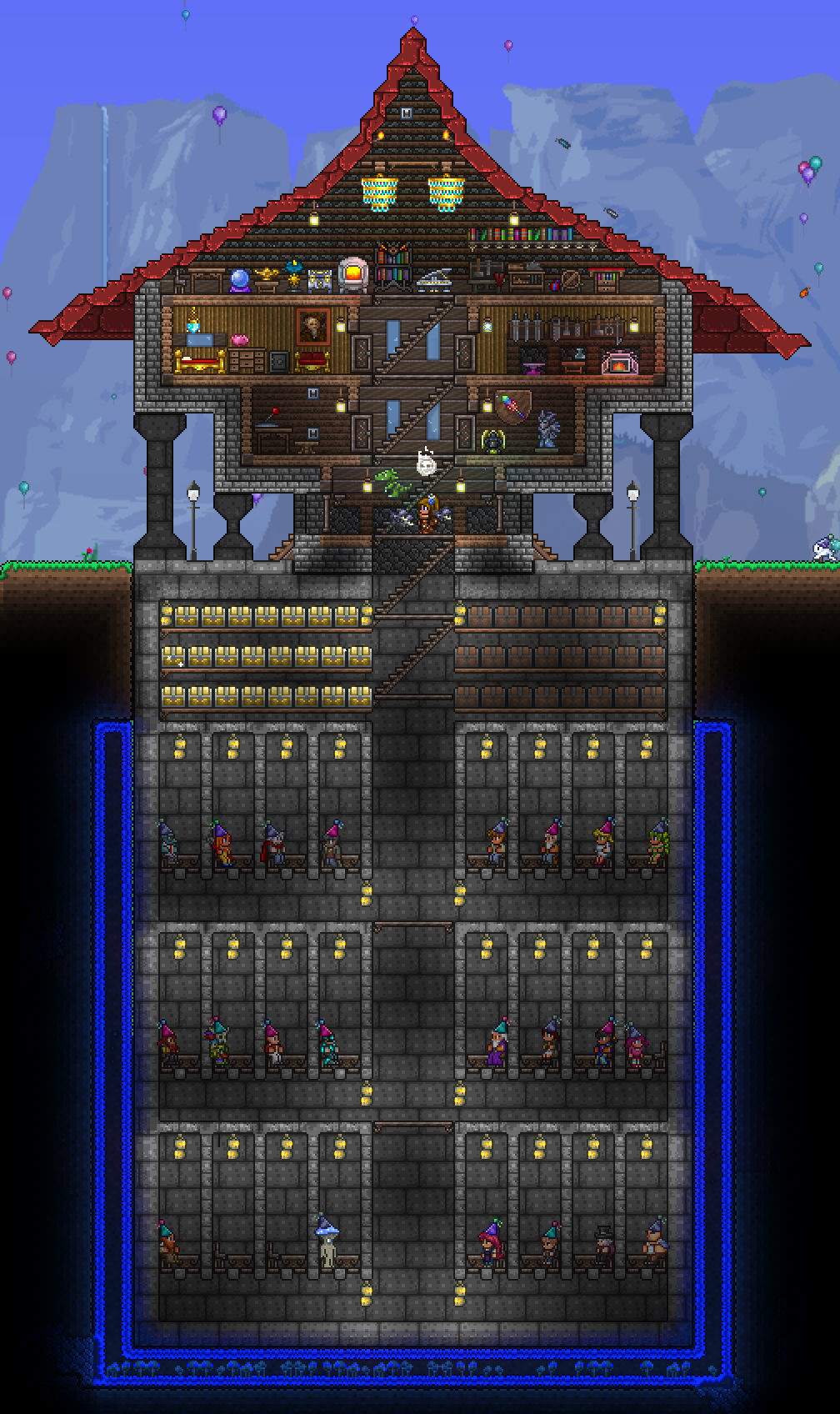 My Humble Abode Full With Storage All Npc S A Lock Down System
