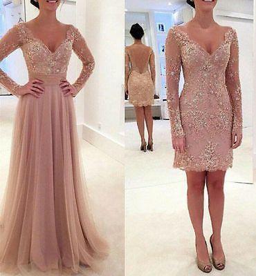 Details Zu Neu Spitze Langarm Brautkleider Bodenlange Abendkleid