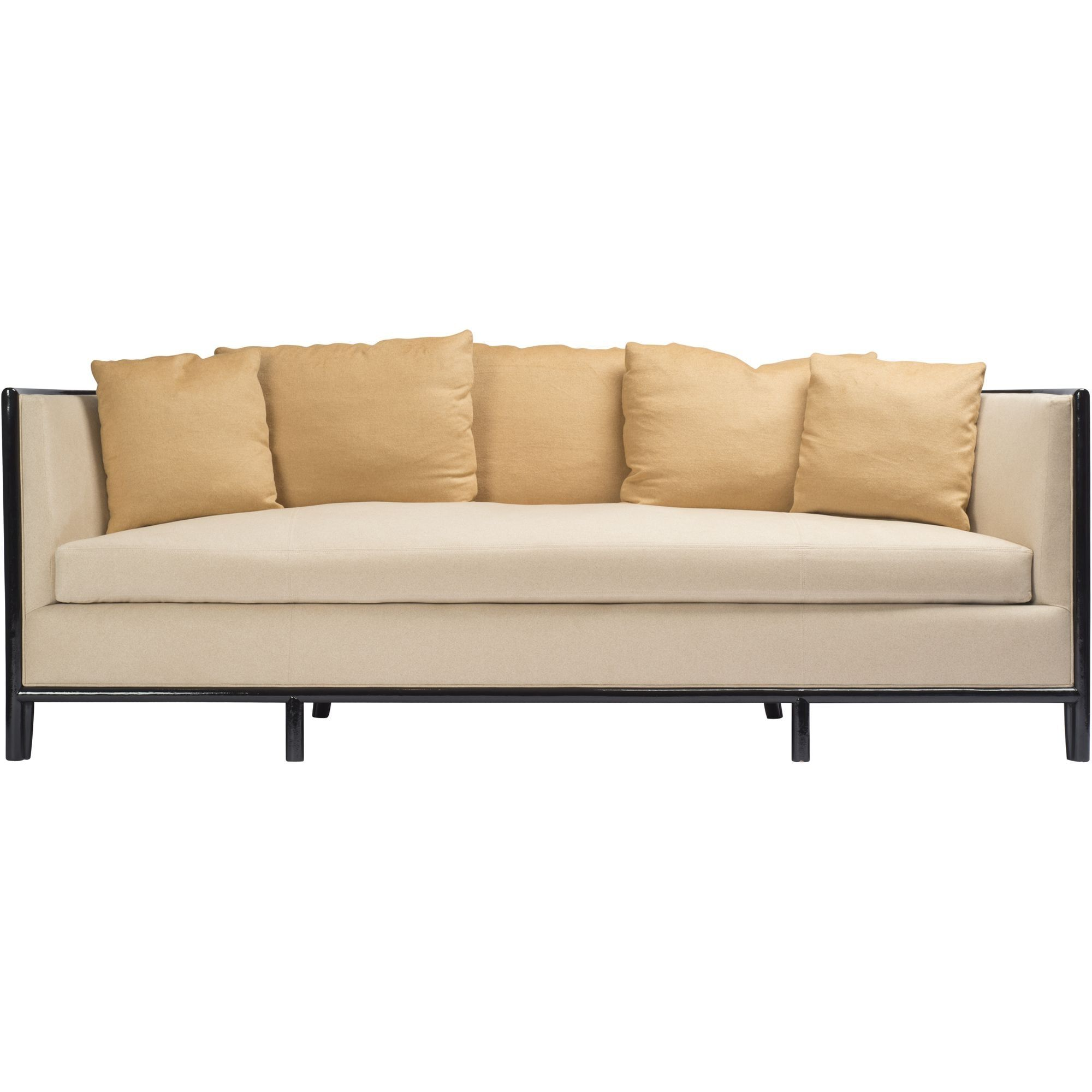 Barbara Barry Lunette Sofa With Caned Back Contemporary Transitional Art Deco Sofas Sectionals Dering Hall