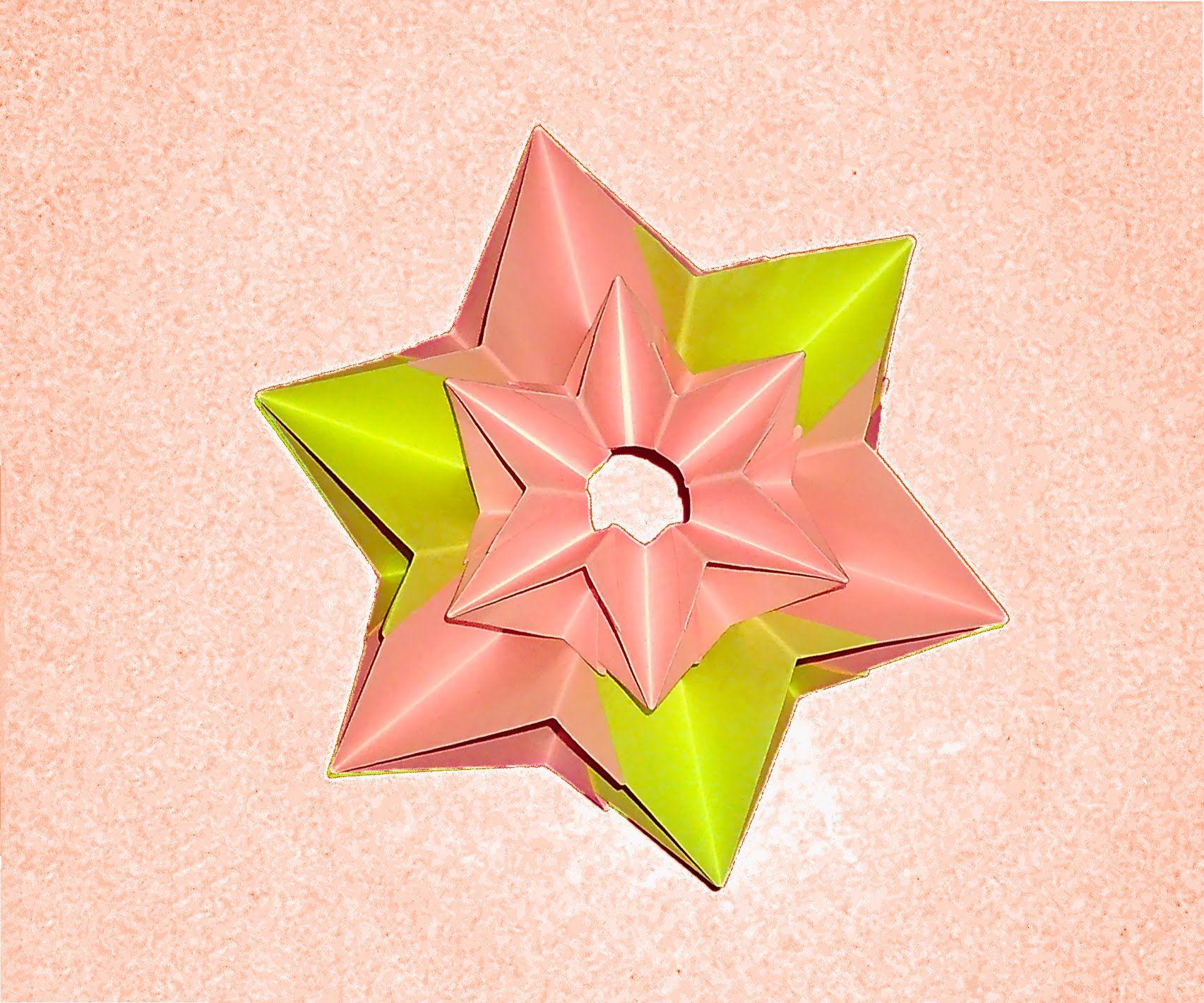 Origami Modular Flower Flor Modular De Papel Origami Paper