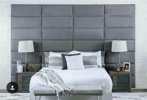 Cabecera de cama bloques verticales | Ideas para el hogar ...