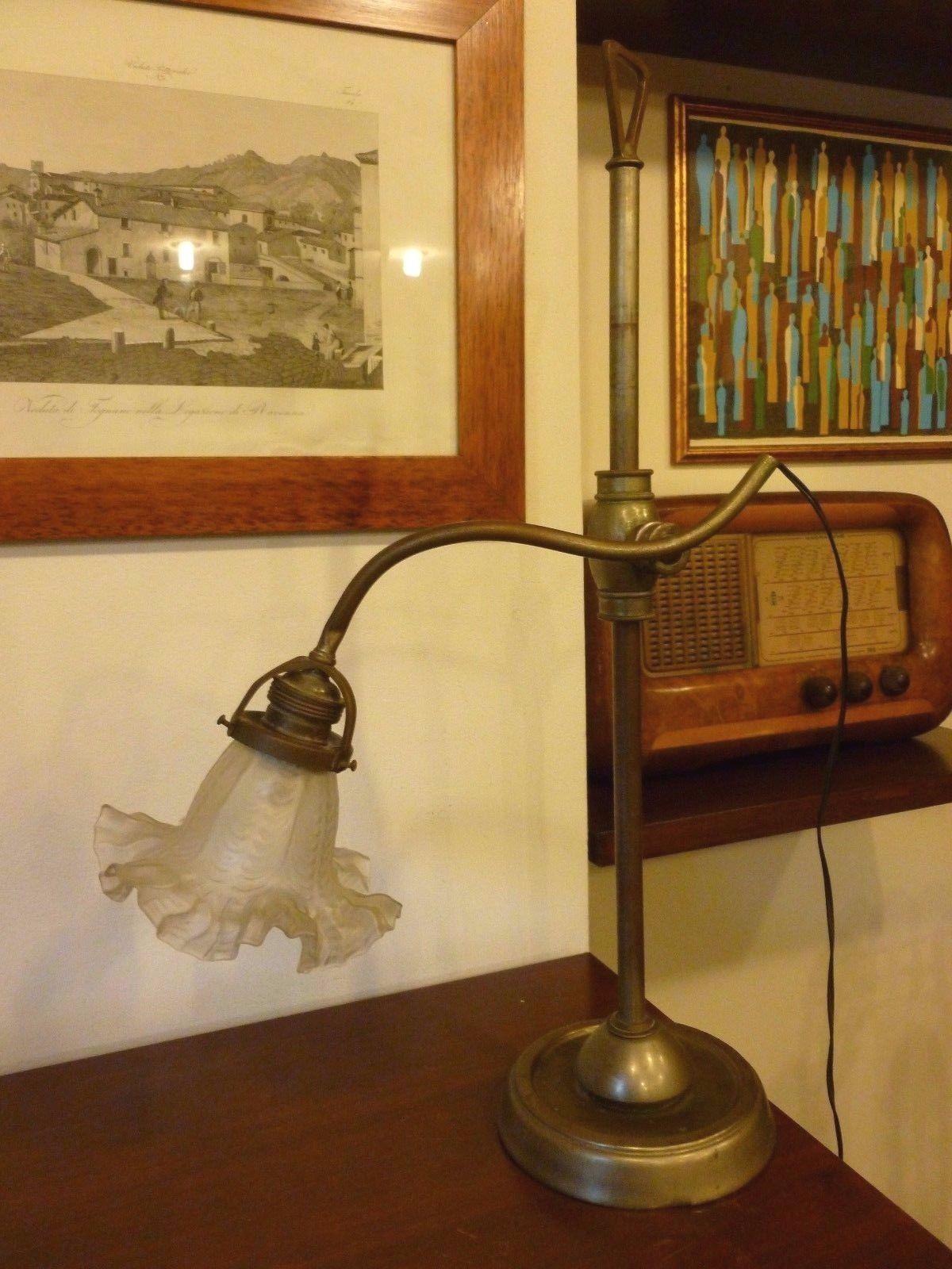 Lampada Da Tavolo Ministeriale Snodabile In Ottone Vintage Anni 50 Design Lamp Eur 80 00 Lampada Da Tavo Lampade Da Tavolo Vintage Lampade Da Tavolo Lampade