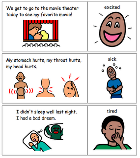 Matching activity for teaching emotions to kids with autism. Helps ...