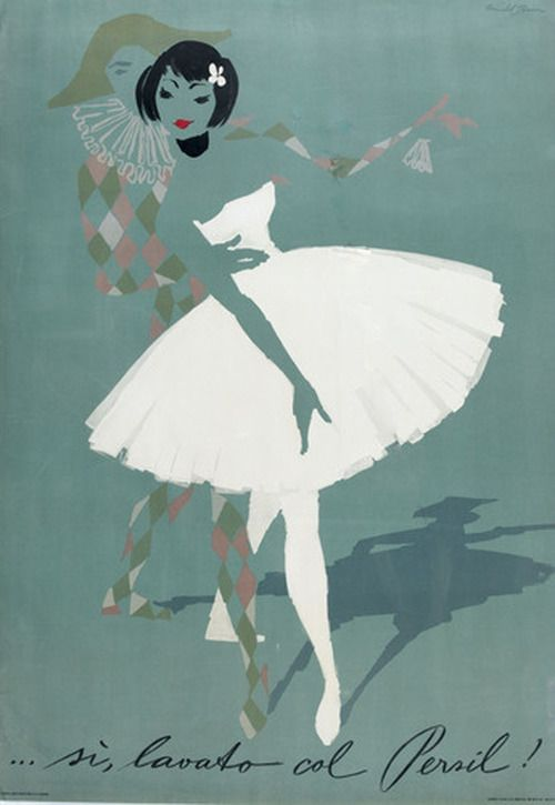 Persil Laundry Soap 1950s Illustration By Donald Brun Ballet