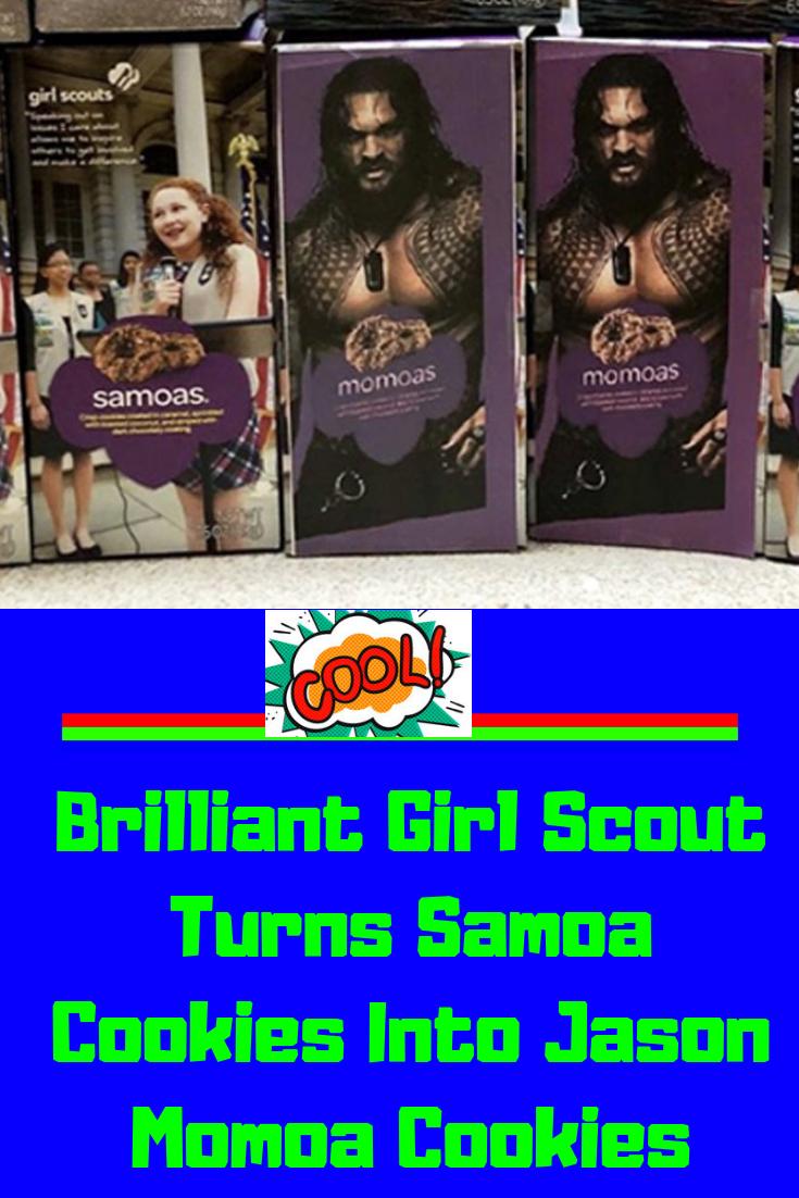 Brilliant Girl Scout Turns Samoa Cookies Into Jason Momoa Cookies
