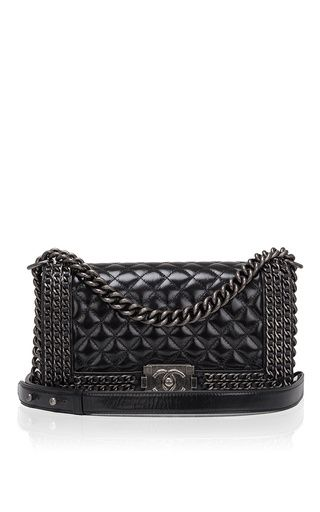 b0b0e75e7302 Limited edition chanel chained medium boy bag by MADISON AVENUE COUTURE for  Preorder on Moda Operandi