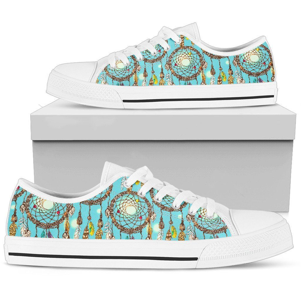 Blue Dream catcher Men Low Top Canvas Shoes in 2020