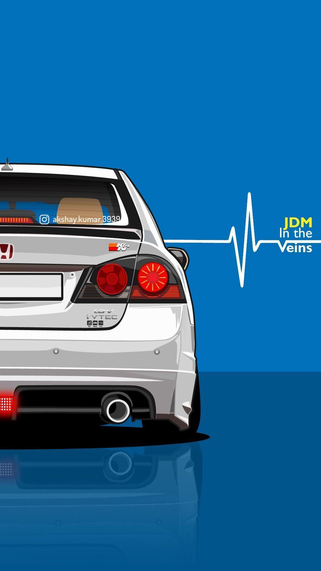 Honda Civic Wallpaper Indian Cars Wallpaper Civic Fd2 Jdm Wallpaper Phone Wallpapers Cars Civic Fd2 Honda In 2020 Jdm Wallpaper Honda Civic Car Civic Jdm