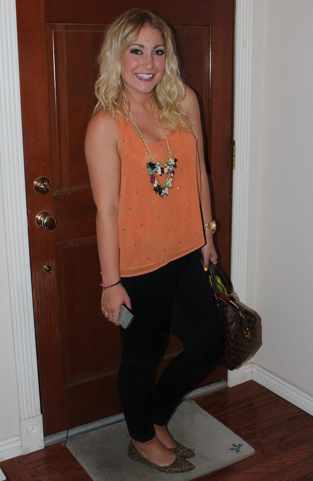 tank and jeans with animalprint flats  sincerely, truly scrumptious