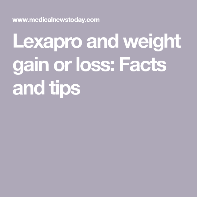Lexapro side effects weight gain or loss