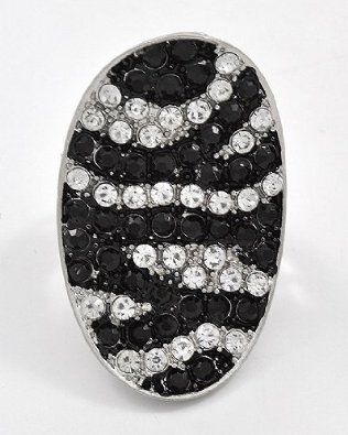 $19.99  Amazon.com: Zebra Bling Crystal & Rhinestone Size Free Adjustable Ring by Jersey Bling: Jewelry  www.jerseybling.net