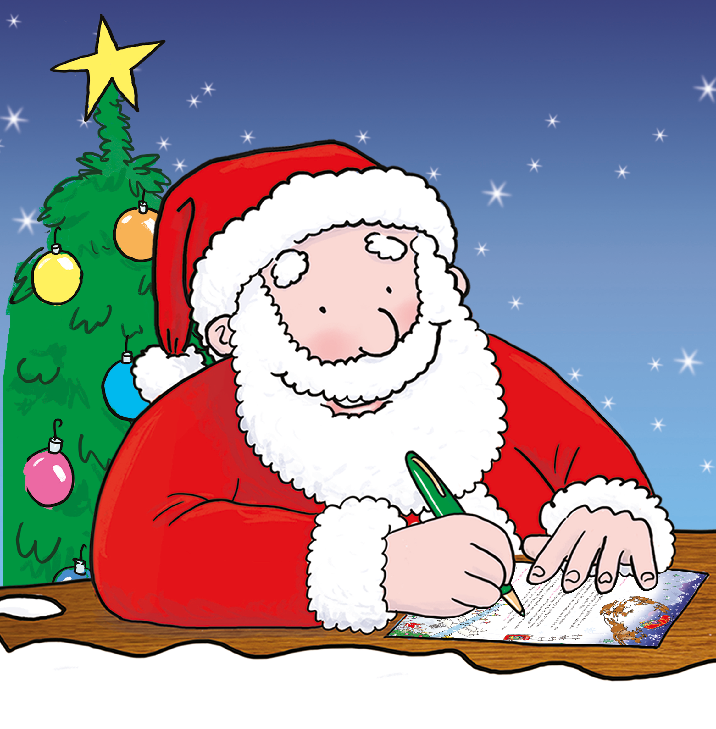 Santa is writing his letters christmas is a busy time of year for dear disappointed child a letter from santa spiritdancerdesigns Choice Image