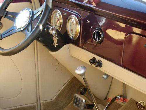Restored 1938 Ford Pickup Truck Interior The Driver Managed The