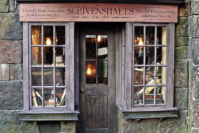 Writing Shop Quaint Store Hogsmeade Shop Fronts