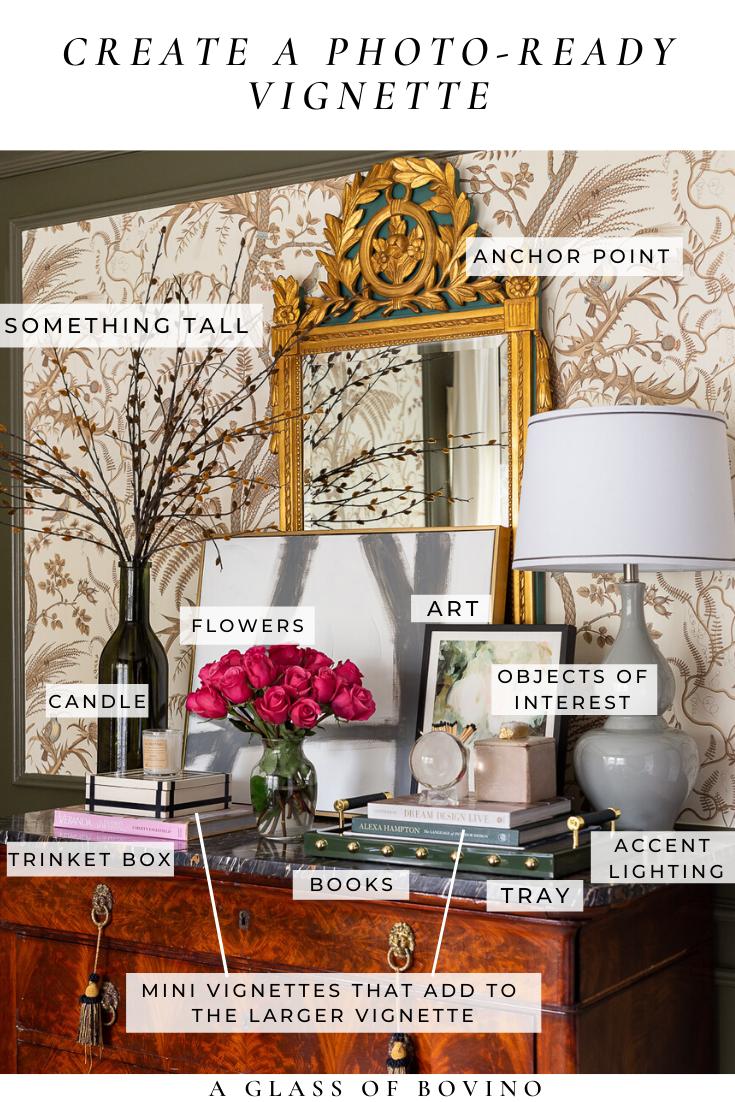 How I Create Photo Ready Vignettes Plus My Favorite Places To Shop For Decor Interior Vignette Decor Interior Design Vignette