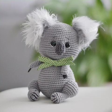 Photo of Kala the koala amigurumi crochet pattern. Koala toy pattern. Australian koala pattern