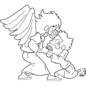 11++ Jacob wrestling with the angel coloring page HD