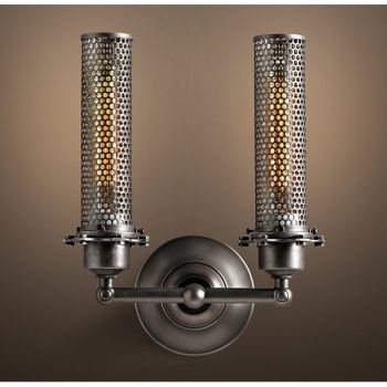 Edison Perforated Metal Double Sconce Wall Light | Sconces, Metals ...