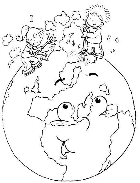 Colorear Medio Ambiente 42 Ekologija Día De La Tierra Medio