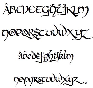 police ecriture elfique