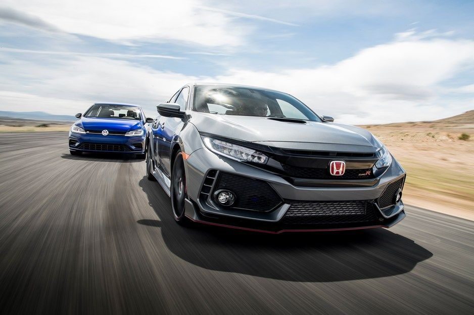 Ford Focus Rs Vs Honda Civic Type R Vs Volkswagen Golf R Vs