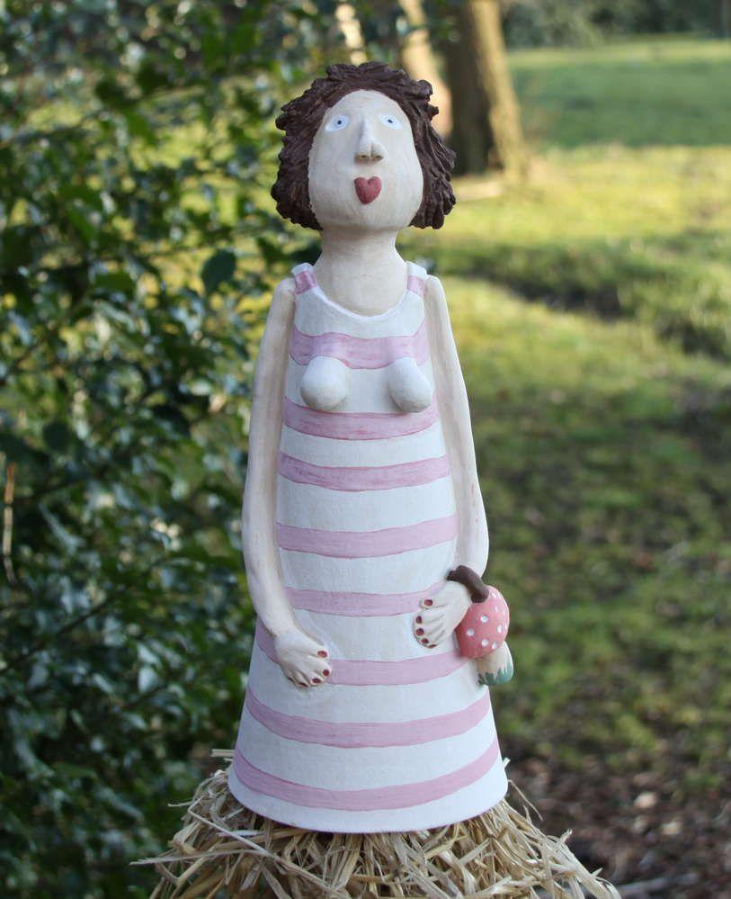 Gartenkeramik Zaunhocker Greta Zaunhocker Keramik Und Gartenkeramik