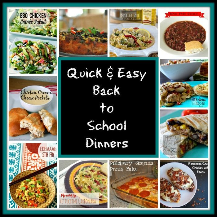 60 Quick And Easy Comfort Food Recipes: Quick And Easy Back To School Dinners. #BacktoSchool