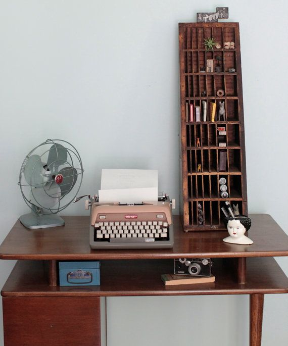 Letterpress Tray Coffee Table: Industrial Designed Letterpress Wood Display...WOW