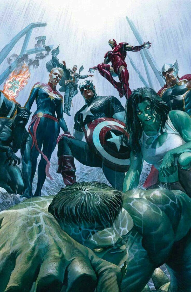 Avengers by Alex Ross Marvel comics, Personnages marvel