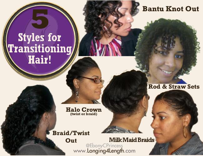 5 Hairstyles For Transitioning Hair Straight On Fleek Pinterest