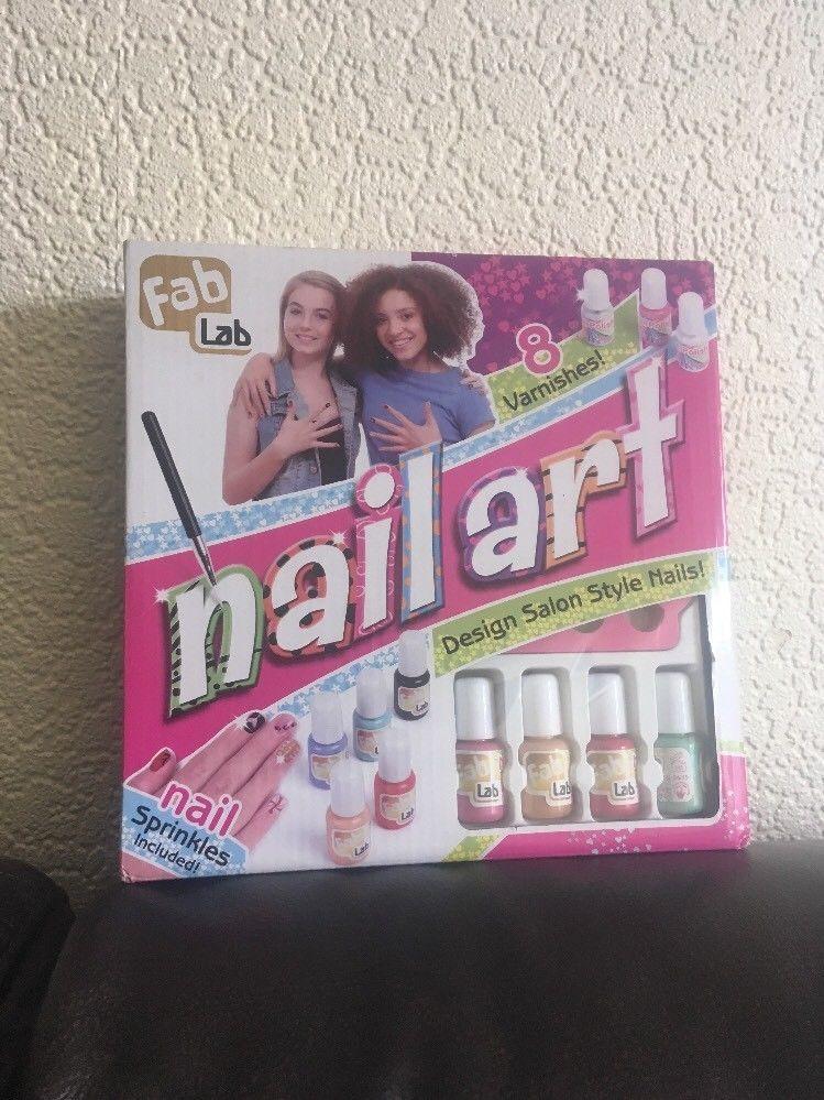 Nail Art Kit Nail Polish Gift Kids Play Fab Lab   Nail art kits and ...
