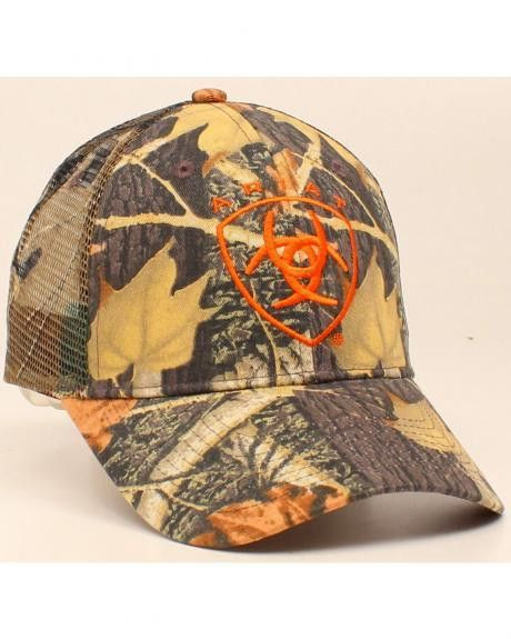 8bdaba1457b Ariat® Western Hat Mens Baseball Cap One Size Camouflage Beige  15450156