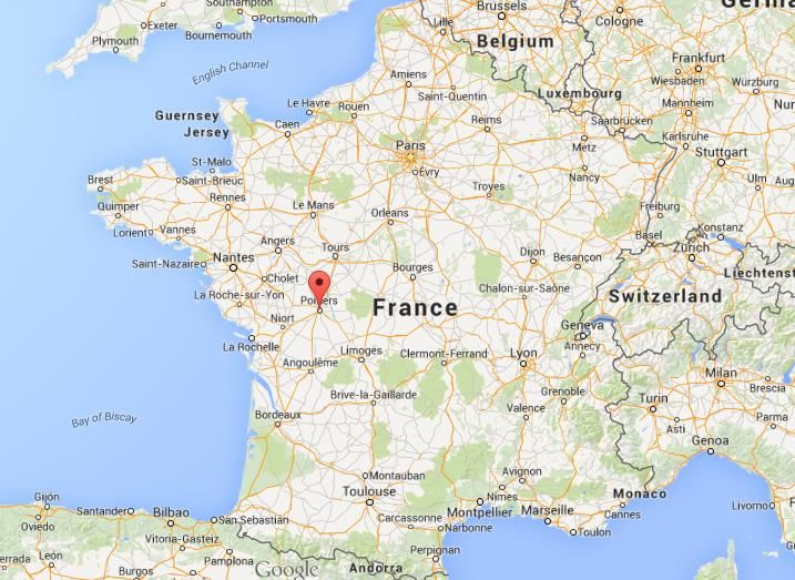 poitiers Where is Poitiers on map of France World Easy Guides