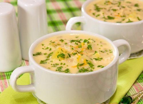 фото рецепт сырный суп