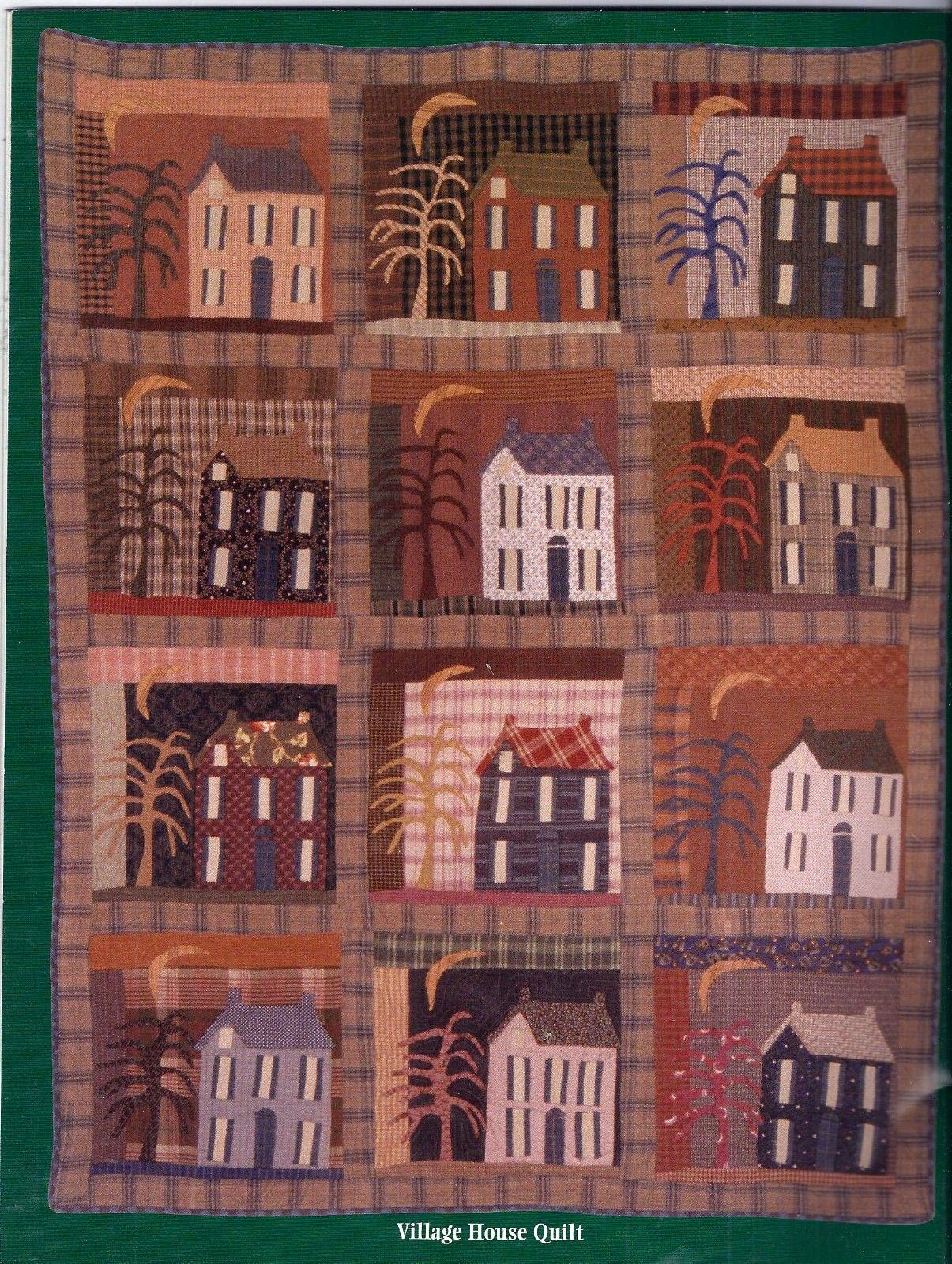 Village house quilt Jan Patek quilts Pinterest House