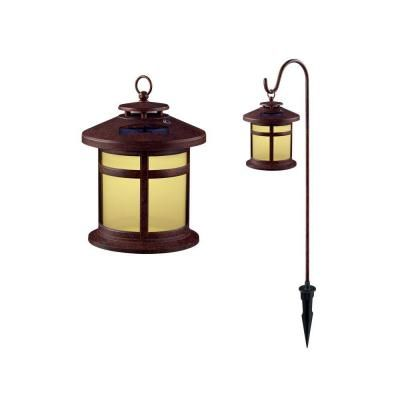 Hampton Bay Reviere Outdoor Rustic Bronze Solar Lights (6 Pack) #homedepot
