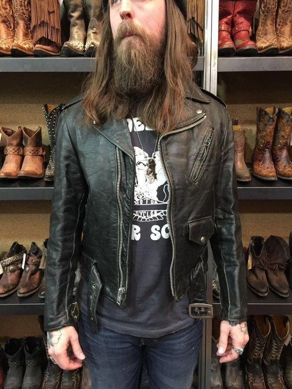 schott perfecto leather motorcycle jakke, Schott NYC