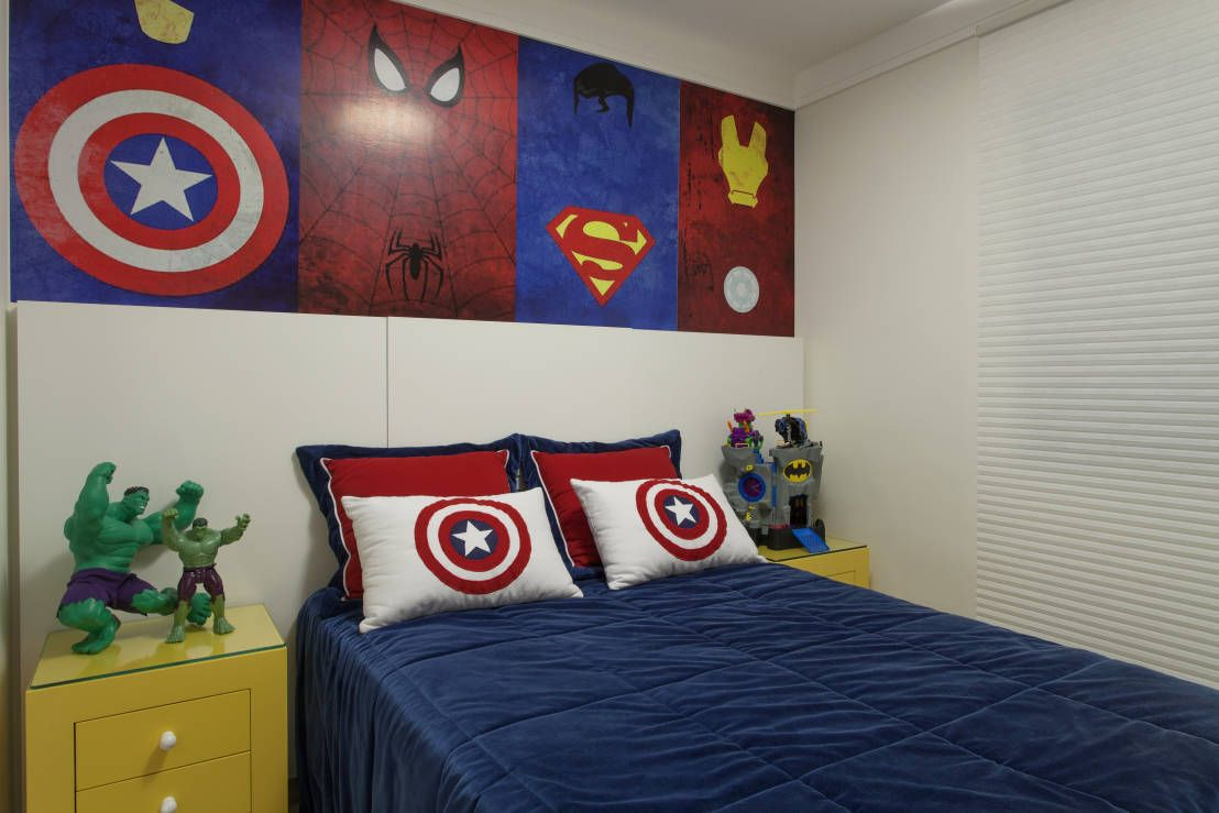 quarto super herói  Pesquisa Google  quarto decorado infantil  Pinterest