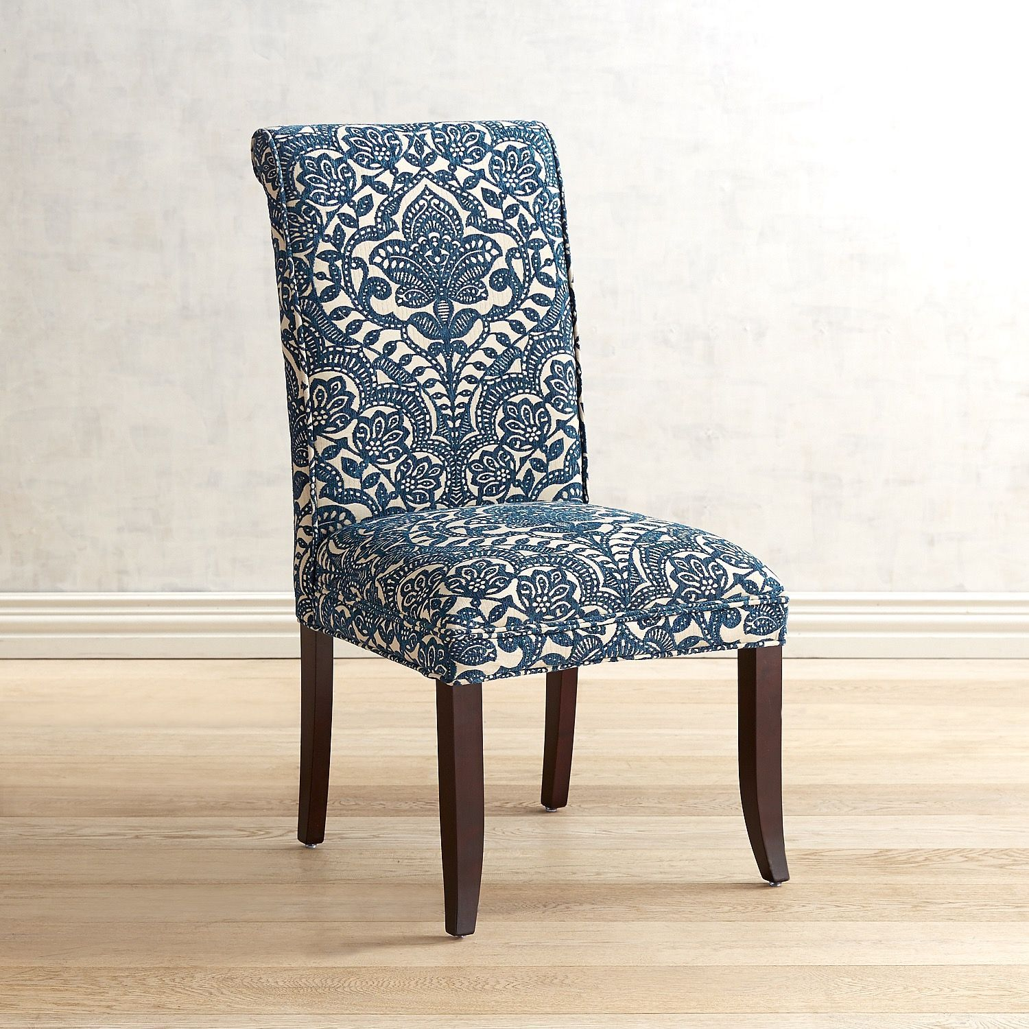 Angela Navy Blue Trellis Dining Chair in 2019  Dining