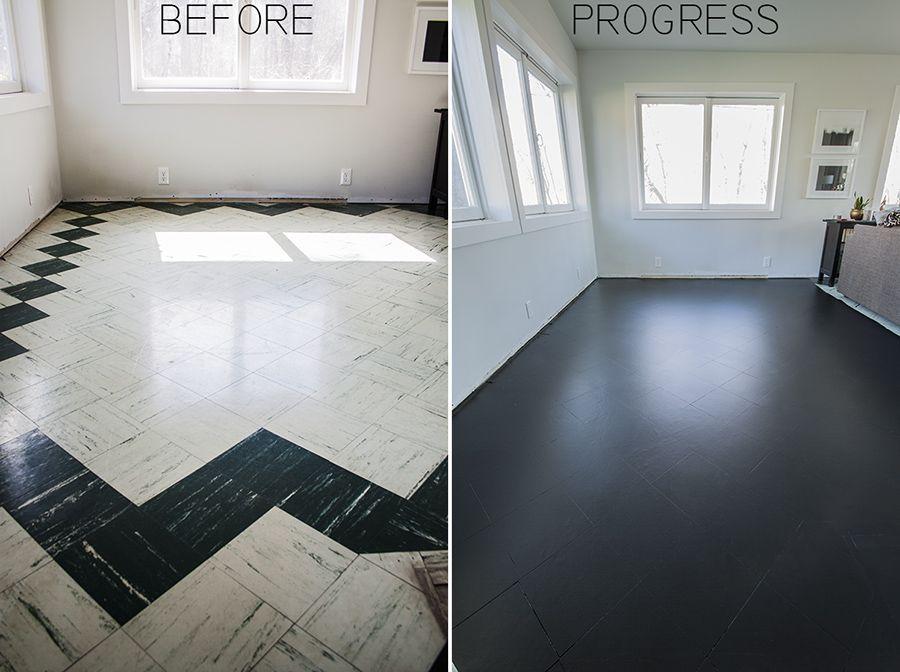 Painting The Living Room Floor Tiles Part I Tile Floor Living