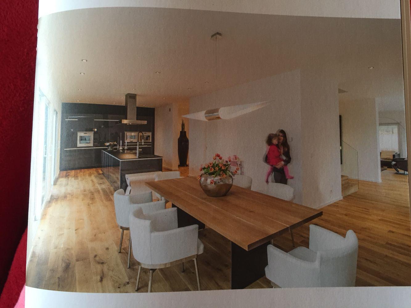Interessante Raumaufteilung von Küche, Essen und Wohnen