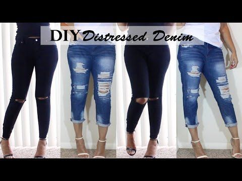 cd9be89f DIY Distressed Jeans | Boyfriend Jeans & Ripped Knee Jeans - YouTube ...